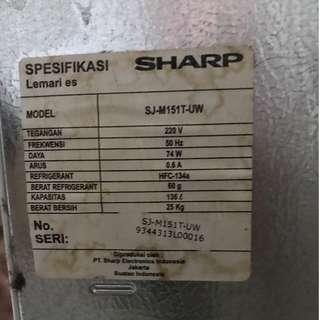Kulkas sharp 1 pintu bocor evaporatornya