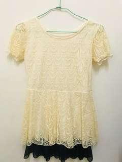 🚚 鵝黃色洋裝