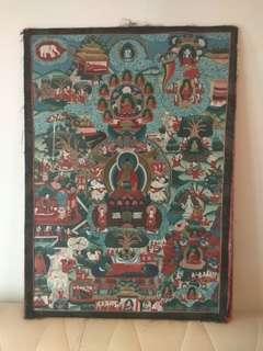 舊西藏手繪唐卡