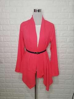 Coral formal or casual cardigan
