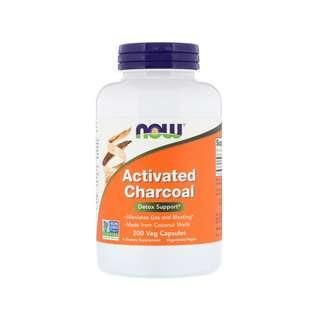 🚚 Now Foods, Activated Charcoal, 200 Veg Capsules