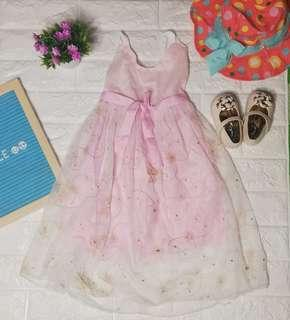Pink party dress for baby girl
