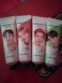 Monsta X TonyMoly hand creams