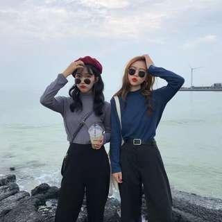 🚚 #085 korean minimalist oversized long sleeve cotton pullover / top