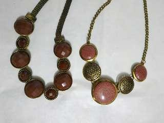 Maroon/Light Brown Necklaces