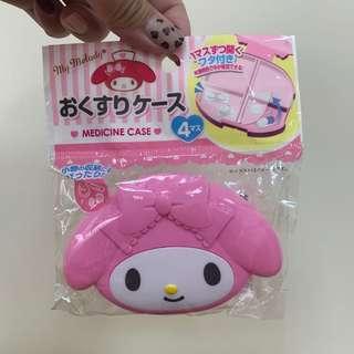 🚚 日本帶回 Sanrio 三麗鷗 美樂蒂 my melody 藥丸收納盒 飾品盒