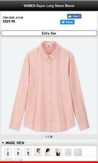 Uniqlo pink blouse