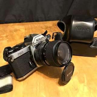 Nikon FM2 傳統 手動 經典 機械式底片機 單眼 相機 + 35-70mm 鏡頭