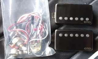 EMG 57/66 pickups black chrome
