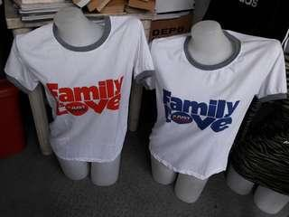 2 in 1 Family tee shirts (in bundle)