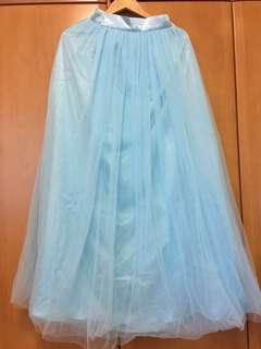 Maxi tulle skirt - bridesmaids/wedding Tiffany blue