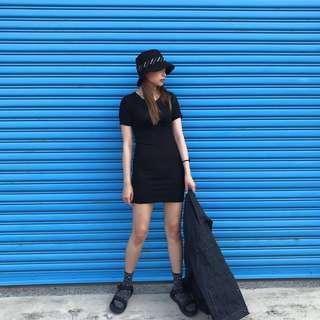 🚚 2013 誰穿誰瘦 貼身 純黑連身裙