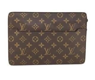 Louis Vuitton Monogram Pochette Homme Clutch Authentic