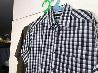 Kenneth Cole Checkered Short Sleeve Polo