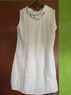 #maudompet dress yukensi / u can see / dress singlet / minidress putih