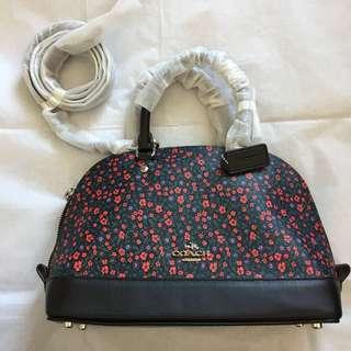 Coach small handbag with shoulder strap 碎花手袋 黑色手挽及肩帶 🇯🇵購自日本 全新 未拆包裝紙套