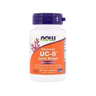 🚚 Now Foods, Advanced UC-II Joint Relief, 60 Veg Capsules