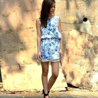 🚚 NEW Porcelain Pixie Duo Texture Dress