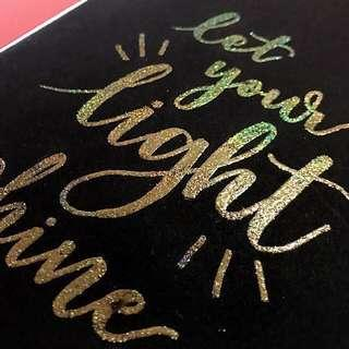 Gold embossed notebook