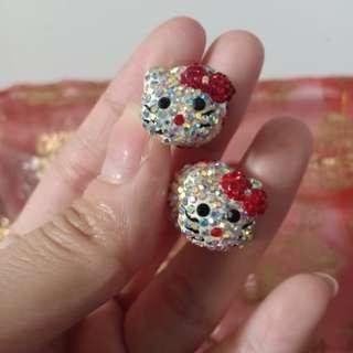 Anting Mewah Hello Kitty Anting tusuk