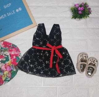 Baby glittered party dress