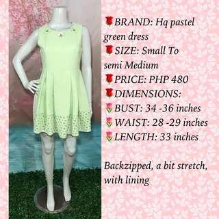 HQ PASTEL GREEN DRESS