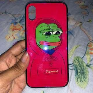 PEPE RED CASE IPHONE X