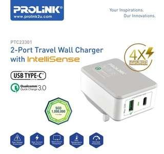 Cheapest Prolink 2-Port Travel Wall Charger
