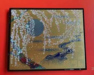 日本傳統手工藝 塗漆相框(夜櫻)