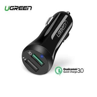 UGREEN Quick Charge Car Charger Dual USB Adapter