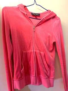 Juicy couture 粉紅色運動外套 XS size