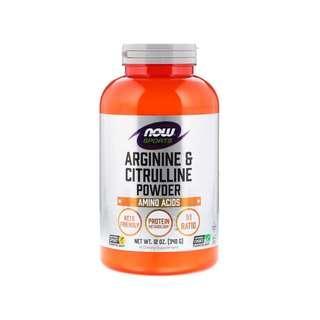 🚚 Now Foods, Sports, Arginine & Citrulline Powder, 12 oz (340 g)