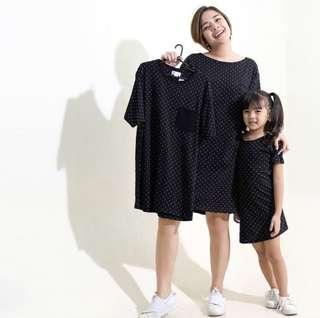 HTP Clothing black polkadot dress