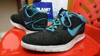 Sepatu nike black - light blue