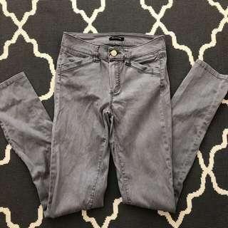 Massimo dutti Spain brand straight cut slim fit grey jeans