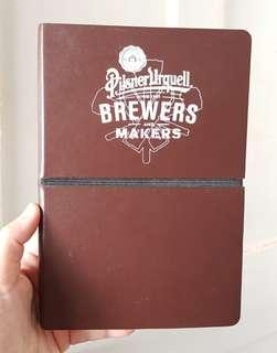 Pilsner Urquell notebook and tote bag