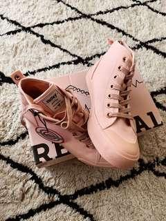 Baby pink, pale pink Volley sneakers chucks with tags