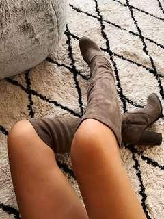 Forever New Suede Knee High Heeled Boots