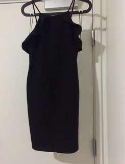 Zara trafaluc black dress
