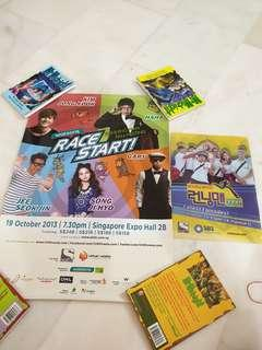 Running man poster and file