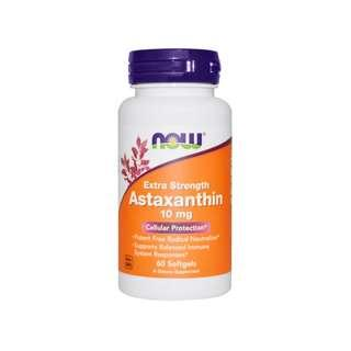 🚚 Now Foods, Astaxanthin, Extra Strength, 10 mg, 60 Softgels