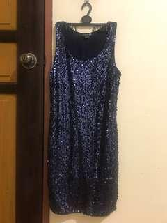 SALE! Forever 21 F21 Navy Blue Sequined Gatsby Dress