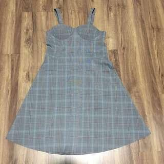 GTW Gray Plaid Dress