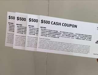 Adidas $500 cash coupon x4