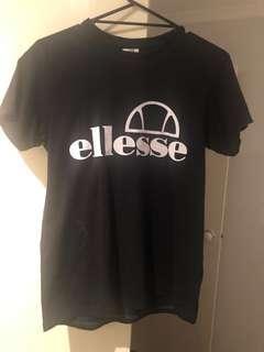 Ellesse T Shirt Black Size 12