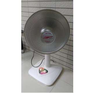 二手電扇型電暖器/鹵素燈電暖器/鹵素式/14吋鹵素式電暖器/14吋風扇型鹵素電暖器/安全電暖器/可定時電暖器