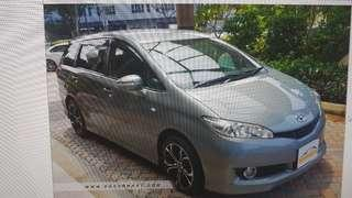 VEHICLE FOR RENT - NEW MODEL TOYOTA WISH