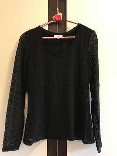 Reiss Black Lace Top-Brand New