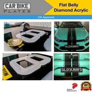 Snow Gloss LTA Approved Acrylic Car Plate