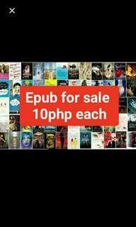 EPUB for 10 each